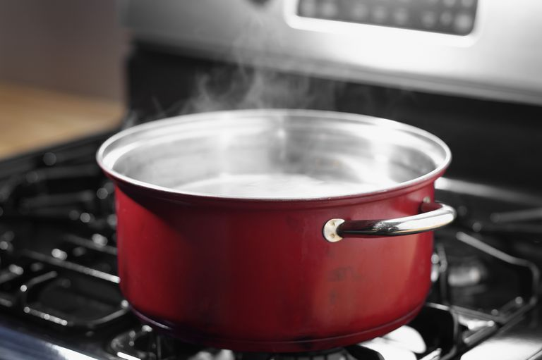 pot of boiling water on stove