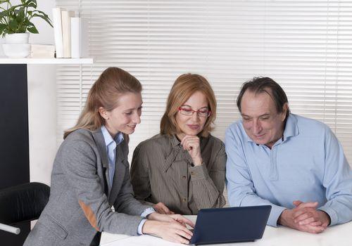 Mature Couple and Financial Advisor