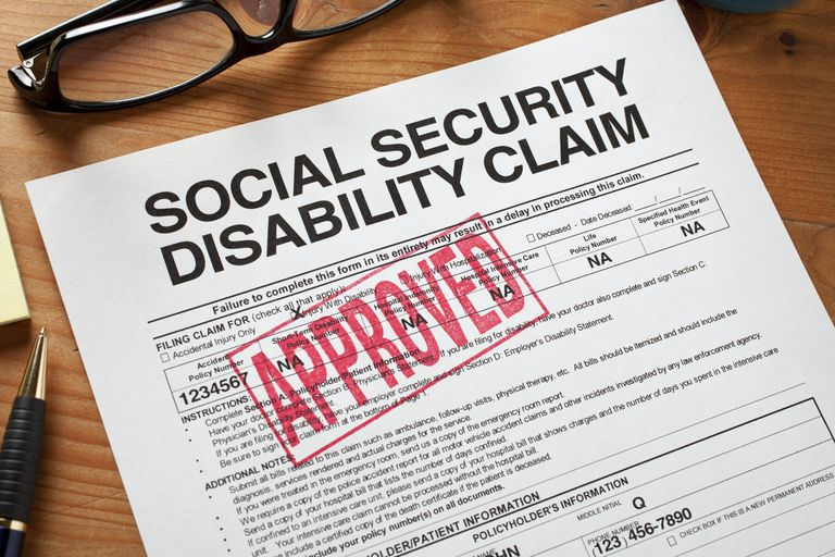 A disability application form on a table