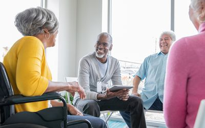 Seniors in a support group