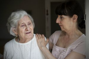 Alzheimer's patient with caregiver