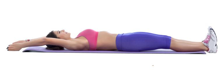 Woman doing the Arms Overhead Stretch