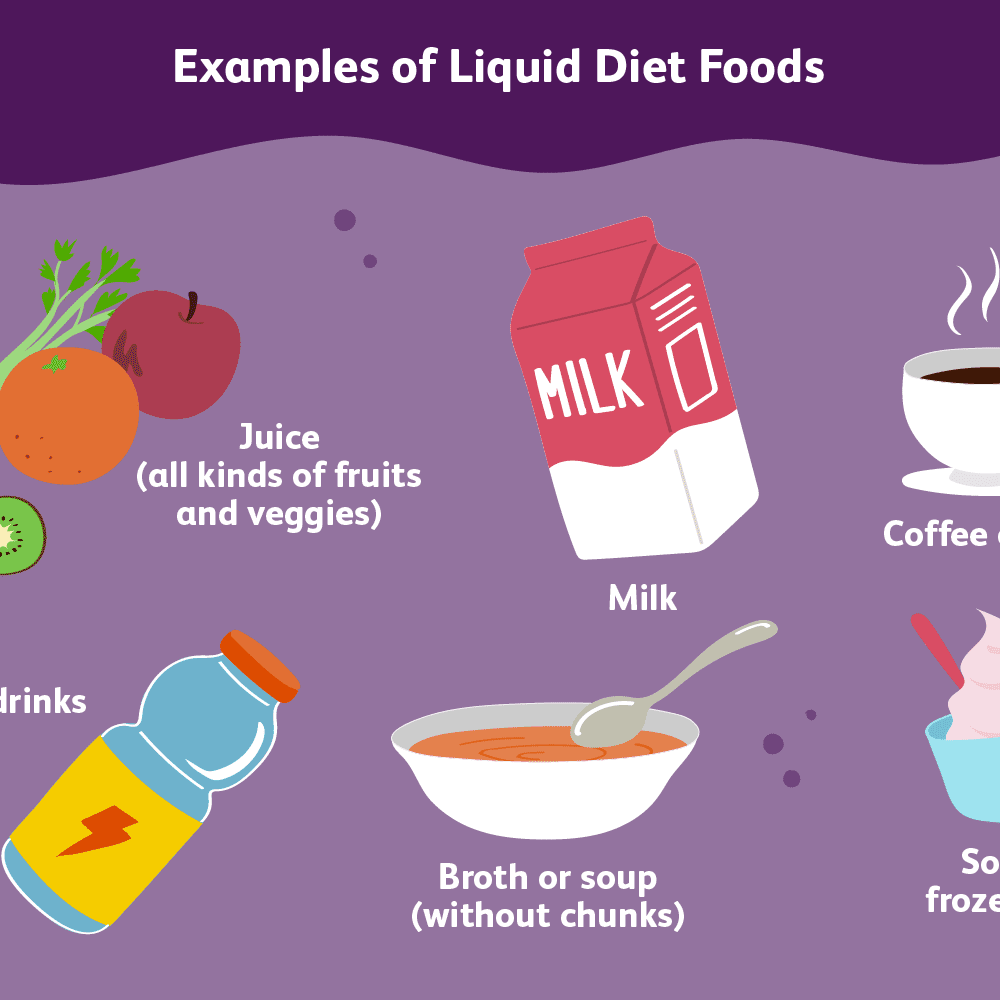 clear liquid diet vs. liquid diet