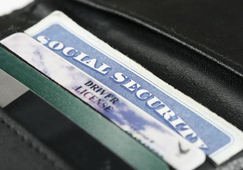 Wallet showing social security card
