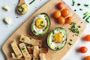 Avocado and eggs