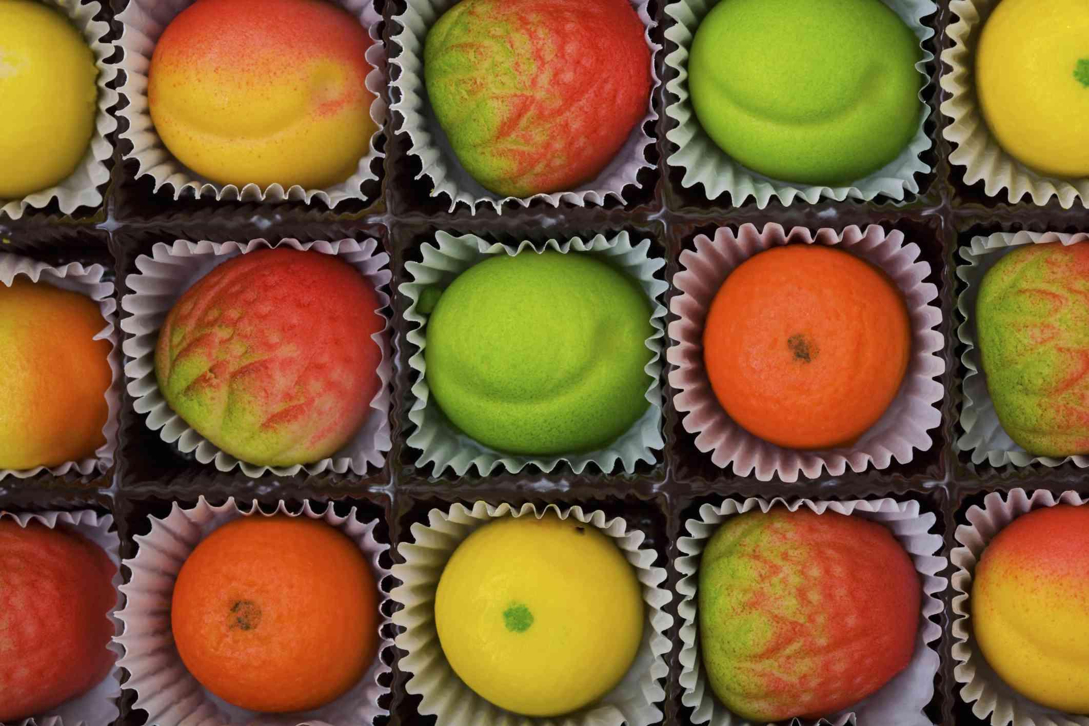 Marzipan fruit candies