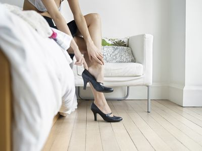 Heels on legs