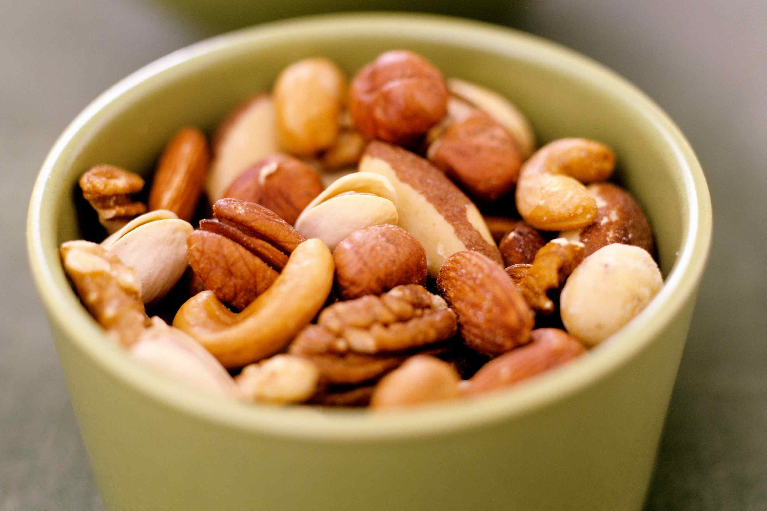 Mixed Nuts in a small bowl