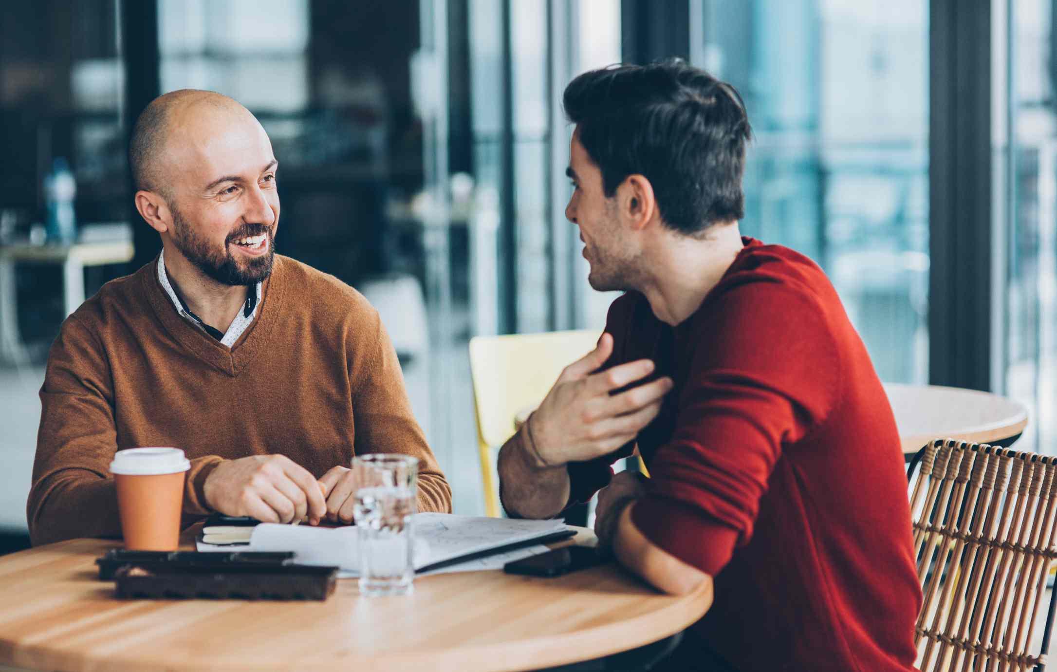 Meeting at cafe
