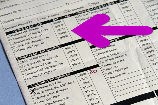 Find CPT codes right on your medical bills.