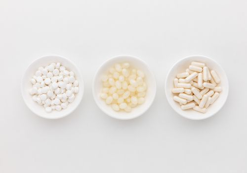 Biotin soft gels, capsules, and tablets