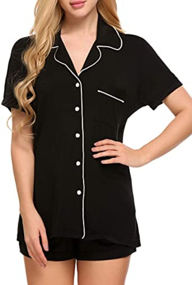 Ekouaer Short Sleeve Pajama Set