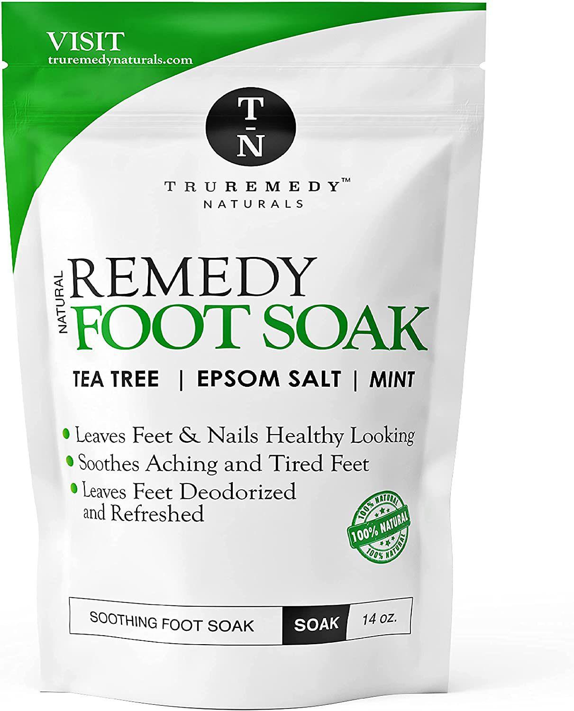 Truremedy Naturals Tea Tree Oil Foot Soak with Epsom Salt & Mint