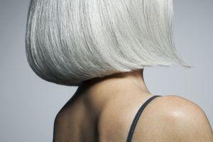 Gray-white hair