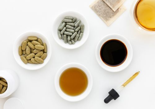Red clover capsules, tablets, tea, tincture, and liquid extract