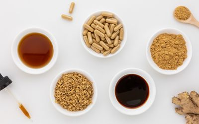 Ginger capsules, powder, tea, extract, tinctures
