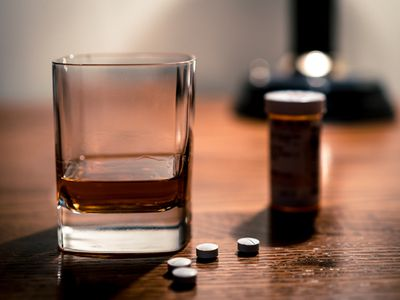 Alcohol and opioids a deadly combination - stock photo