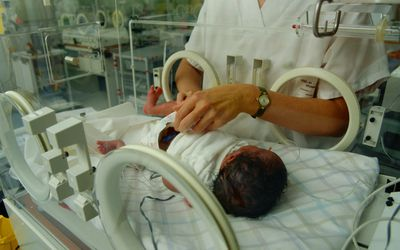Premature baby in ICU
