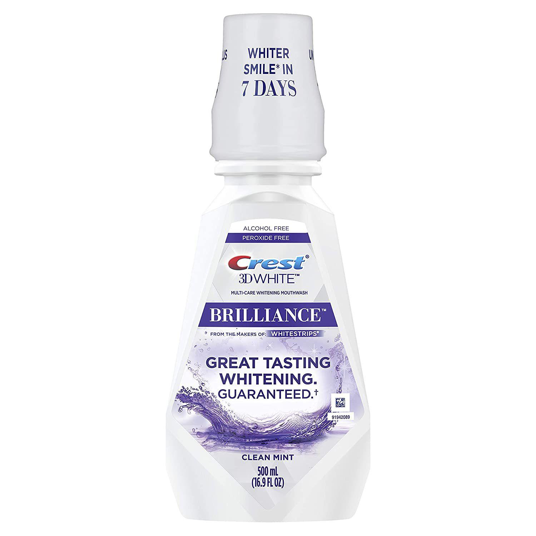 Crest 3D White Brilliance Alcohol Free Whitening Mouthwash