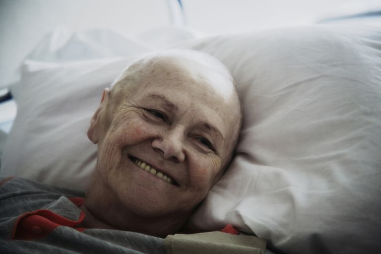 Smiling senior patient