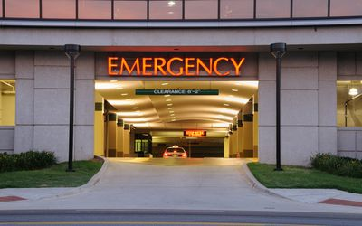 Emergency room entrance.