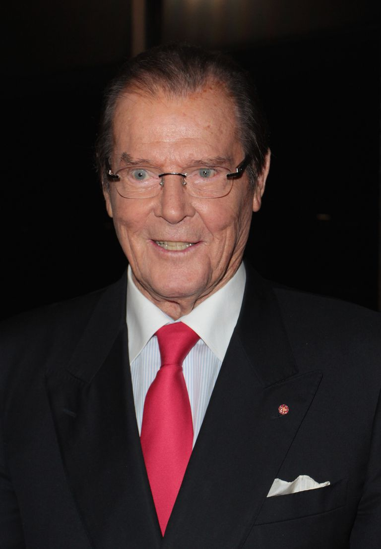 Roger Moore, a celebrity with prostate cancer