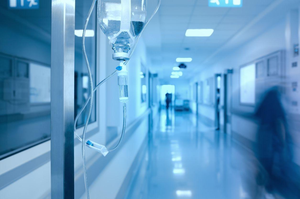 Deserted emergency room walkway