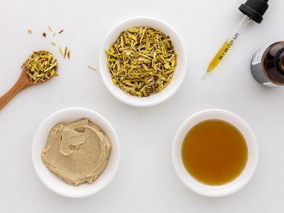 Oregon grape tea, topical cream, and tincture