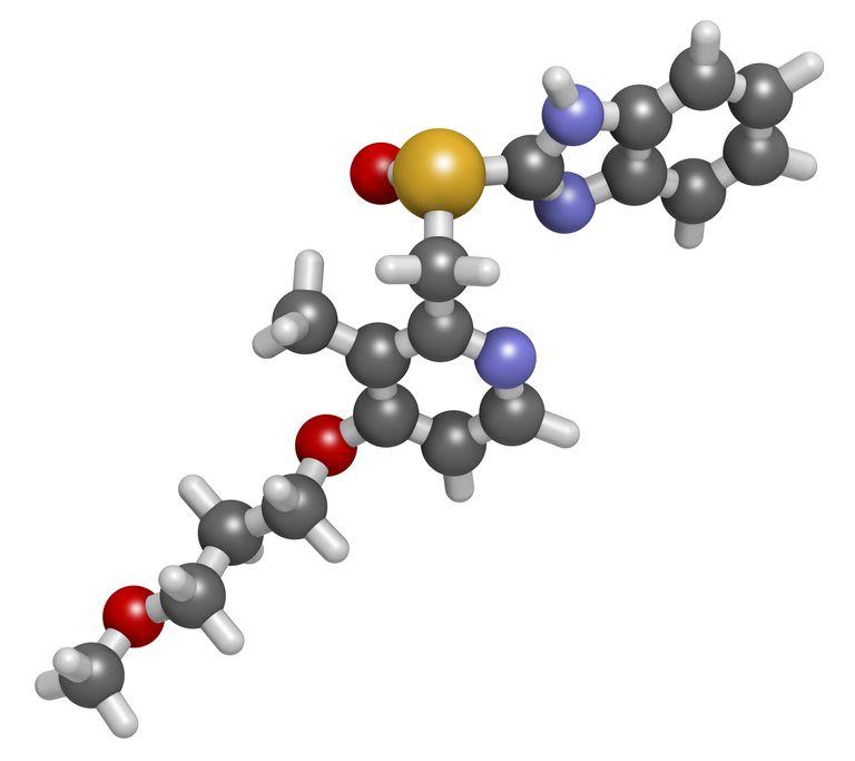 Rabeprazole gastric ulcer drug molecule