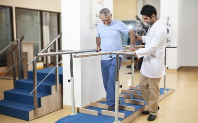 Physical therapy after encephalitis