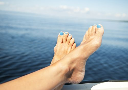 Feet on the water