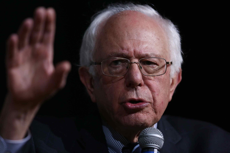 Portrait of Bernie Sanders Talking