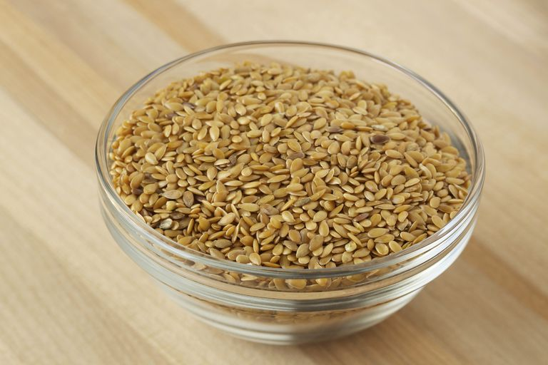 Bowl of flaxseed.