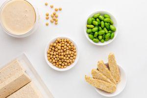 Tofu, tempeh, soybeans, edamame, soymilk