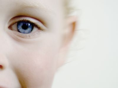Boy, 3, eye close-up
