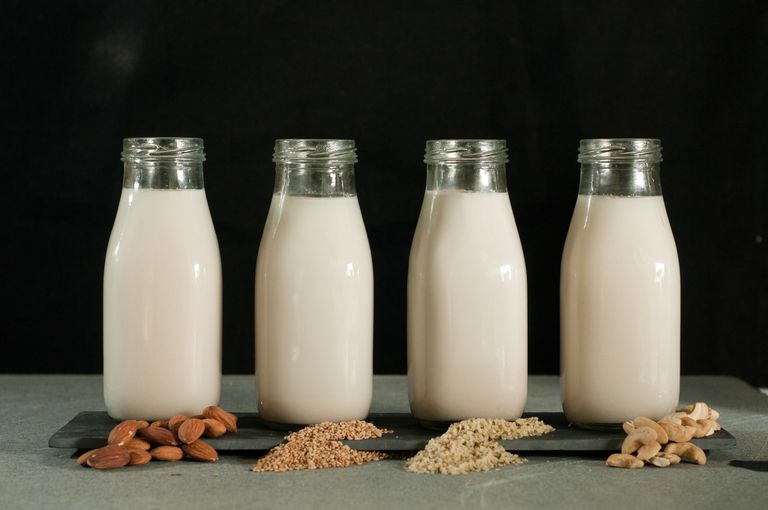 different types of nut milk