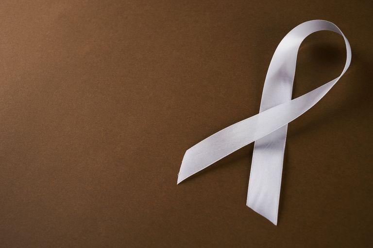 white lung cancer awareness ribbon