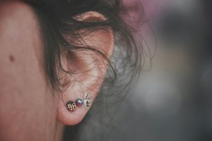 Close up of an ear.