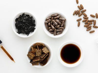 Eucommia extract, capsules, dried bark, and tea