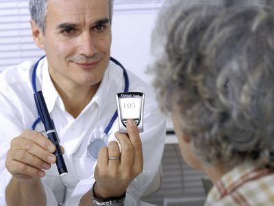 Doctor with a diabetic patient