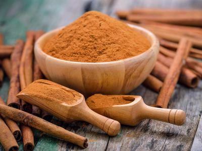 Cinnamon in bowl
