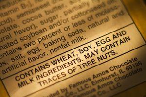 food allergy warning