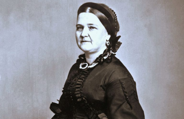 Mary Todd Lincoln in funeral clothes