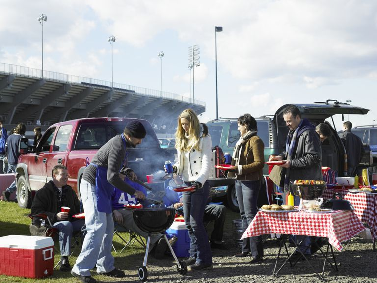 Barbecuing at a Tailgate