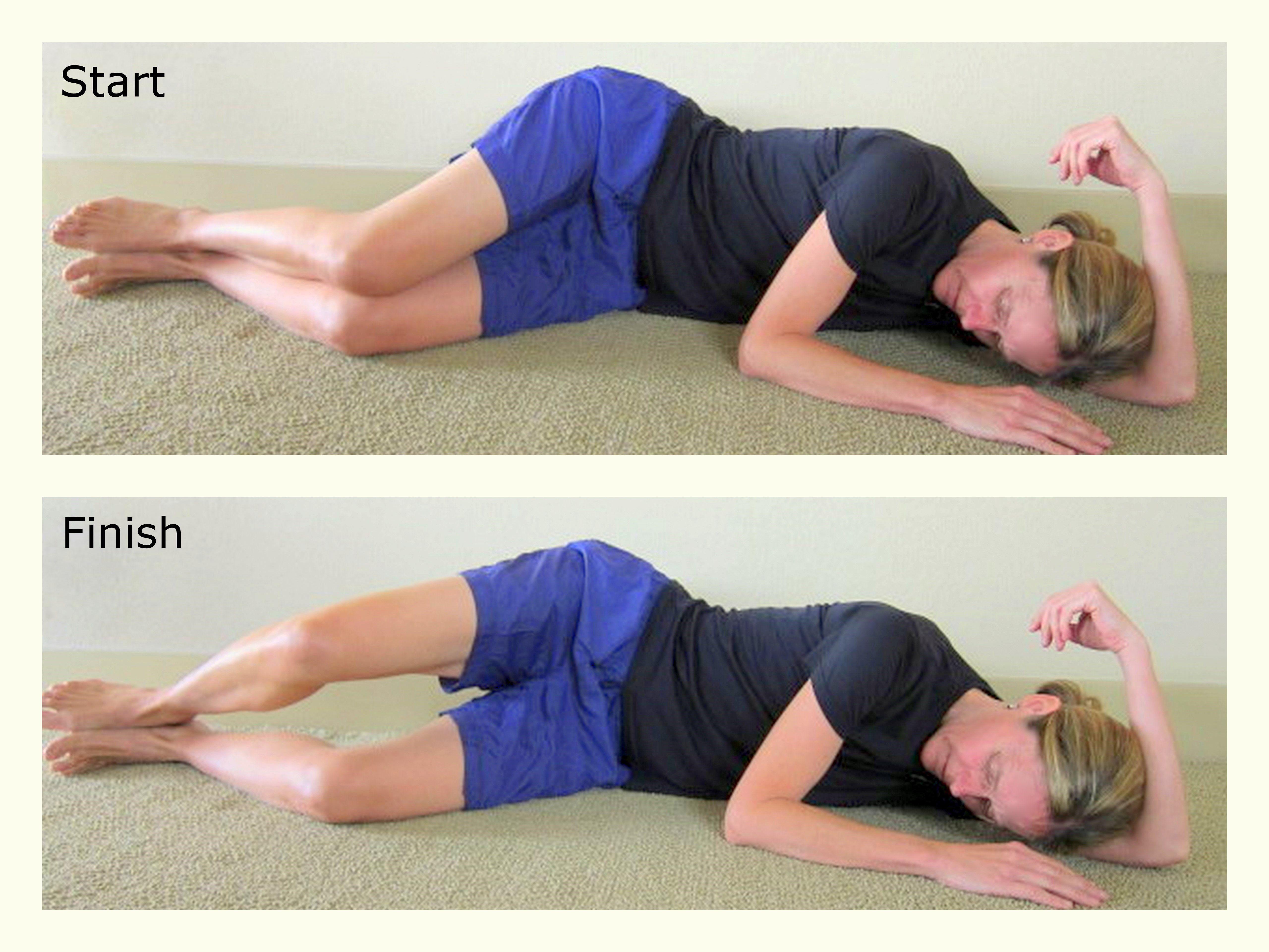 Clam Exercise - glute medius activation exercise