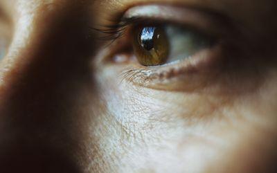 Close-up image of woman's eye
