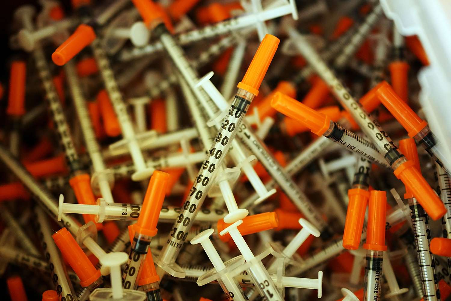 Pile of syringes