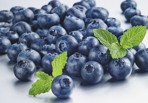 Blueberries are a source of antioxidants.
