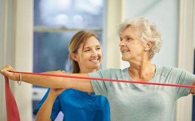 Older woman doing PT