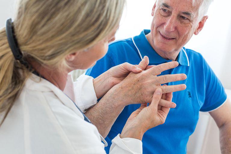 Man having a medical consultation